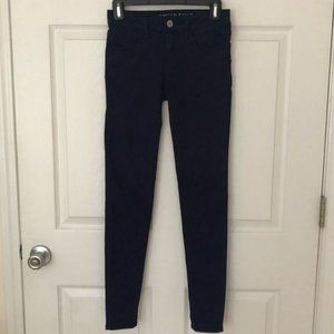 American Eagle Navy Blue Super Stretch Jeggings